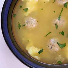 Mini Matzoh Ball Soup