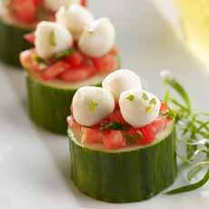 Cucumber Mozzarella Bites