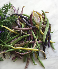Colored Green Beans