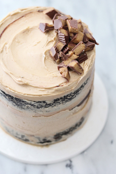 Naked Chocolate Peanut Butter Cake
