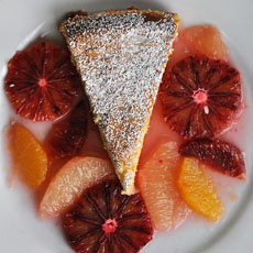 Olive Oil Cake Citrus Garnish