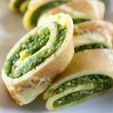 Pesto Omelet Roll