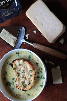 Soup With Jumbo Crouton