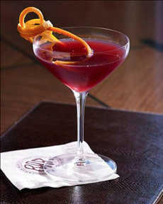Orange Peel Cocktail Garnish
