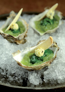Green Oysters For St. Patricks Day