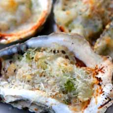 Oysters Rockefeller With Cheese