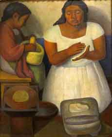 'Tortilla Maker' by Diego Rivera