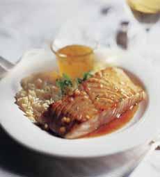 Salmon With Honey Glaze