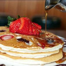 Pancakes Embedded Fruit