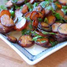 Pan-Fried Carrots