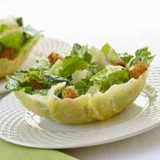 Caesar Salad in Parmesan Bowl