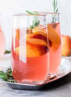 Peach Rosemary Lemonade