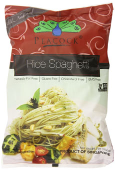 Peacock Rice Spaghetti