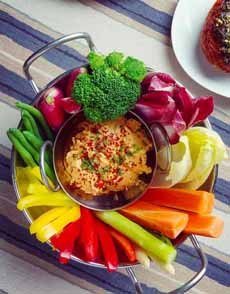 Crudites With Pimento Cheese