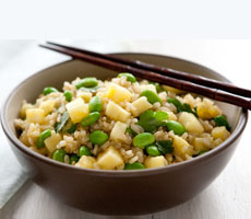 Pineapple Fried Rice With Edamame
