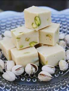 White Chocolate Pistachio Fudge