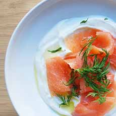 Siggi's Yogurt With Smoked Salmon
