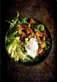 Poached Egg Chorizon Breakfast Bowl