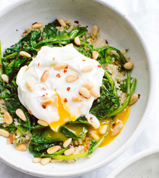 Poached Egg Grain Bowl