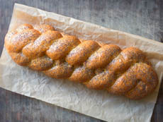 Braided Challah With Poppy Seeds