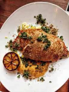 Porgy With Gremolata