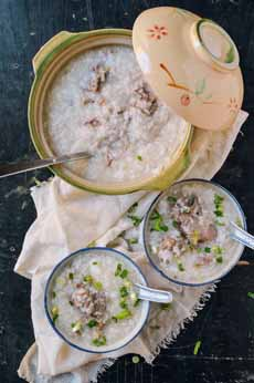 Congee With Pork & Scallions