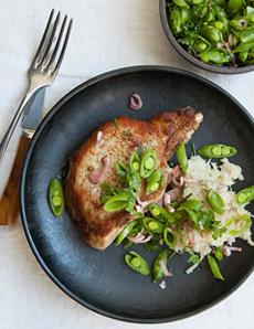 Pork Chops & Salsify Recipe