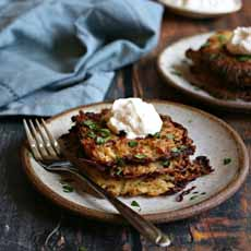 Potato Cauliflower Latkes