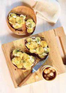 Potato Smorrebord Sandwich