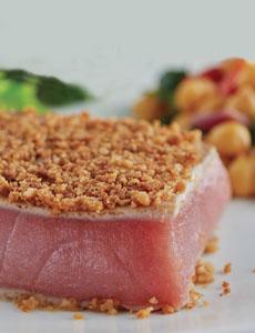 RECIPE: Pretzel Crusted Tuna For National Pretzel Day