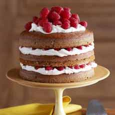 Naked Cake With Strawberry Filling