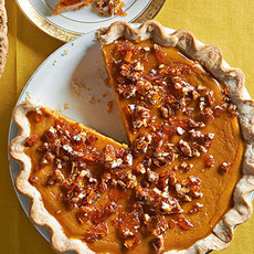 Pumpkin Pie With Brittle Topping
