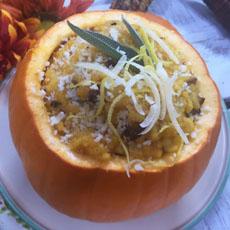 Pumpkin Risotto In A Pumpkin