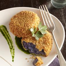 Purple Peruvian Potato Croquettes