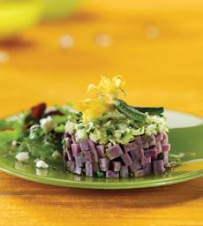Purple Potato & Cucumber Salad