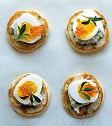 Blini With Quail Egg