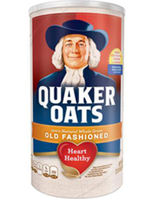 Quaker Old Fashioned Oats Canister