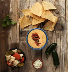 Queso Dip With Salsa