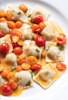 Ravioli With Cherry Tomatoes