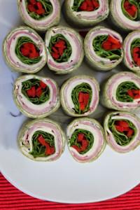 Christmas Pinwheel Sandwiches