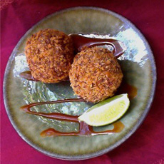 Red Rice Thai Croquettes