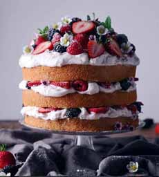 Mixed Berry Naked Cake