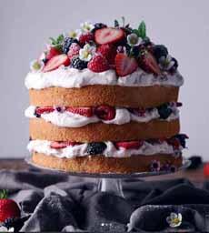 Mixed Berry Naked Cake