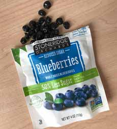 Dried Blueberries Reduced Sugar