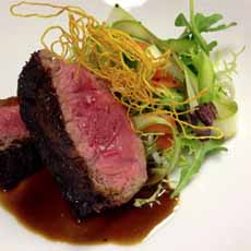 Beef With Shaved Asparagus Salad