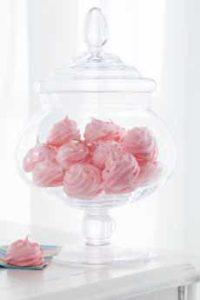 Raspberry Rosewater Meringues