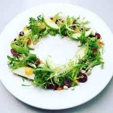 Circular Salad Plating