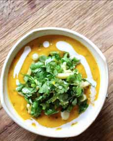 Salad-Topped Soup