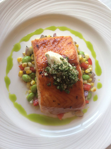 Grilled Salmon With Gremolata
