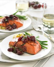 Salmon With Cherry Sauce